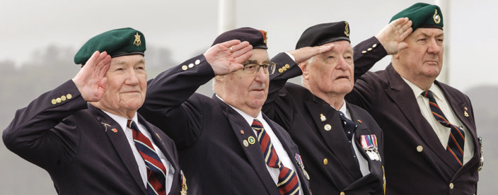 Plymouth veterans of RAF, Army, Royal Navy and Royal Marines